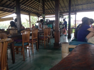 Lunching in Rice Fields at Sari Organik